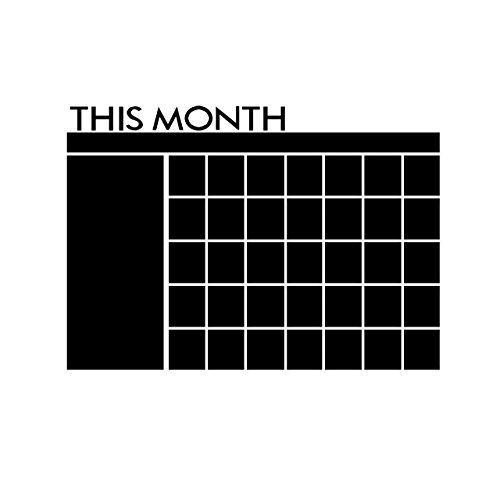 newcomdigi-lavagna-adesiva-calendario-mensile-memo-da-parete-sticker-note-adesivi-murali-rimovibile-