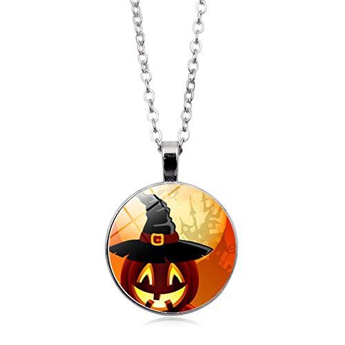 Blisfille Halloween Series Time Edelstein Halskette Mode Anhänger Halskette Festival Herren Damen Geschenk