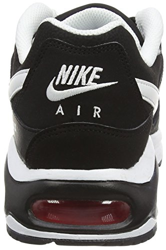 Nike Air Max Command, Chaussures Multisport Outdoor homme Noir (Black/White/Action Red)