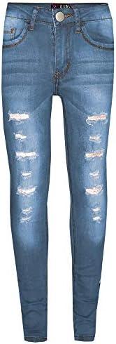 A2Z 4 Kids® Bambini Ragazze Skinny Jeans Progettista Denim Strappato Elastico Pantaloni Moda Pantaloni Nuova E