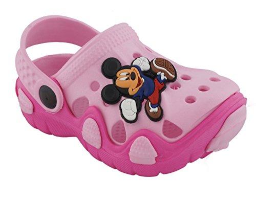 Lil Firestar Unisex Kids Eva Sandals Crocs Clogs_Pink_12KIDSUK/30EU  available at amazon for Rs.419