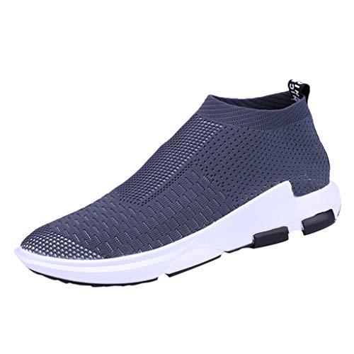 ALIKEEY Mutande Traspiranti di Colore Solido Moda Uomo Scarpe Sportive Corsa da Ginnastica Leggere Comode per Il Tempo Libero all'Aria Aperta Running Estive Sneakers Lavoro