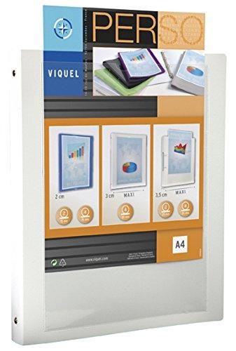 Viquel-Classeur-Cahier-personnalisable-en-polypropylne-maxi-format-A4-blanc