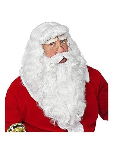 Widmann 46943 Weihnachtsmann Perücke mit Bart und Schnurrbart, ()