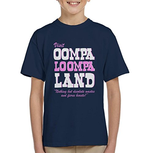 Cloud City 7 Charlie and The Chocolate Factory Oompa Loompa Land Kid's T-Shirt Oompa Loompa-shirts