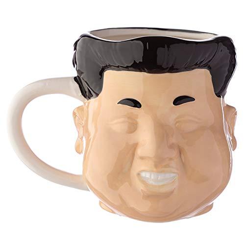 Mug fantaisie en forme de tête en céramique - Rocket Man (Kim Jong - un) - Mug à collectionner amusant Dictator coréen