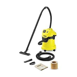 Kärcher Mehrzwecksauger WD 3 P Extension Kit (Behältergröße: 17 l, Tatsächliche Saugleistung: 200 Air Watt, 1,5 m Verlängerungsschlauch, Steckdose, Blasfunktion, ergonomischer Tragegriff)