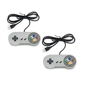 41bVctWcIHL. SS300  - QUMOX 2 x Nintendo Juego de PC Gamepad Controlador SFC Mando de Juego para Super Famicom Windows PC USB