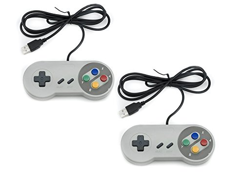 QUMOX 2x Nintendo juego de PC GamePad controlador SFC para Super Famicom Windows PC USB