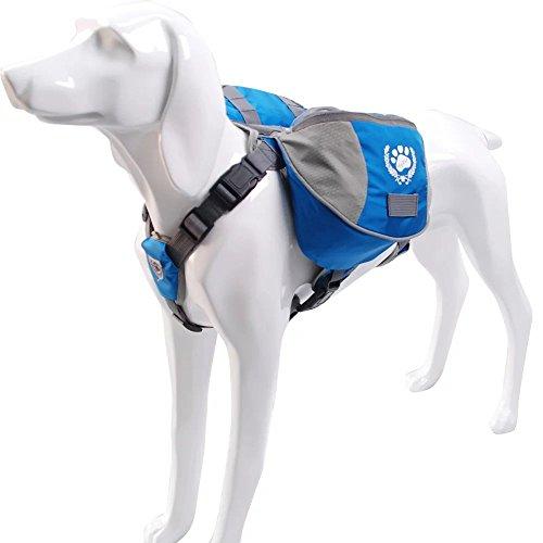 blackgoddy Hund Rucksack verstellbar Pack Satteltasche Stil Hund Zubehör für Wandern Camping Reise (mittel) -
