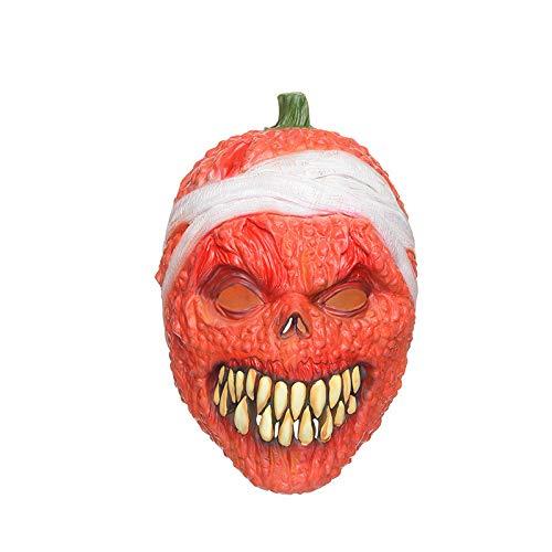 JYKING Halloween Maske Kostüm Deluxe Latex Maske Halloween Scary Cosplay Maske Fest Karneval Christmas Party Kostüm Kürbis 4