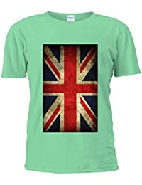 NisabellaLTD Union Jack Flag United Kingdom British England Unisex T Shirt Top Men Women Ladies