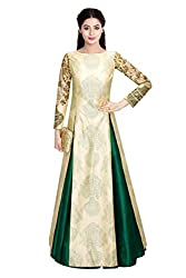 Gown By fabkaz(Green & cream)