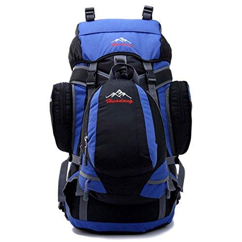 Outdoor Rucksack Klettern Schulter Tasche Reise Tasche Wasserdicht 70L Blue