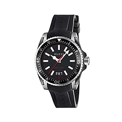 Lg Diver Watch Model Gucci Black & Red