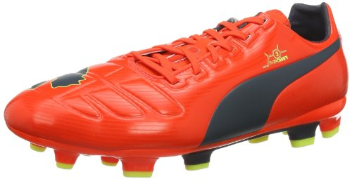 Puma Evopower 3 Fg, Chaussures de football homme Orange/gris/jaune fluo (01)