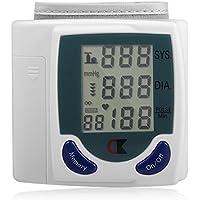 LL-Monitor de presión arterial de muñeca Medidor automático de esfigmomanómetro digital BP Medidores de máquina para medir latidos cardíacos y frecuencia cardíaca DIA