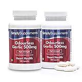 Aglio 500 mg - 360 capsule - Adatto ai vegani - 1 anno di trattamento - SimplySupplements