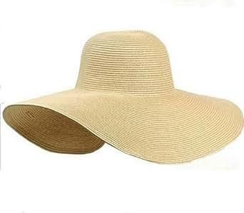 aolevia chapeau de paille femme chapeau de plage id al pour vacances beige. Black Bedroom Furniture Sets. Home Design Ideas