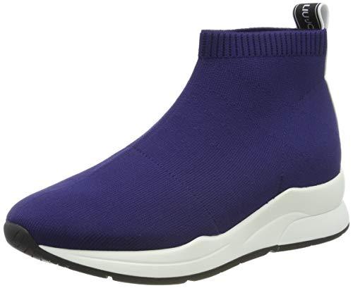 b2a63569c661c Liu Jo Shoes Karlie 16 - Elastick Sock Blue Sneakers Basses Femme