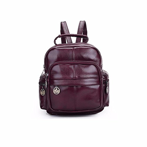 mode - trends, college - wind - rucksack, tasche studenten ms. pu,vintage - brown lengyanzi