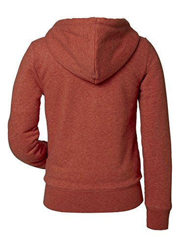 Organic Travel Sherpa - hochwertiger Kapuzenpullover (Damen) Heather Brick Orange