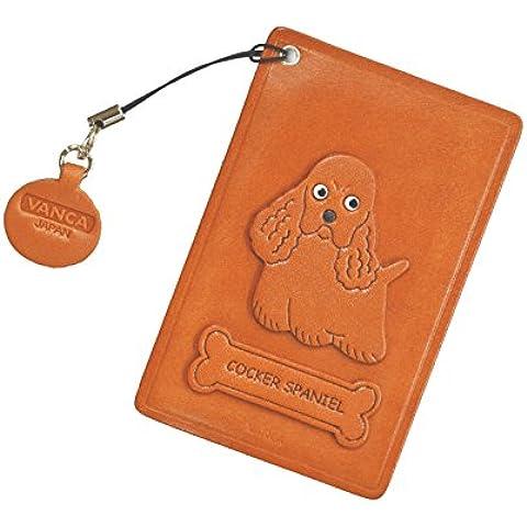 Cocker Spaniel Cane Pelle Pass/ID/credito/Porta carte/custodia * VANCA * fatto a mano in Giappone