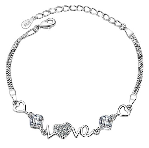 Leisial il nuovo cuore alla moda ha decorato i monili di cristallo delle signore di love di modo delle donne del braccialetto di zircon di amore