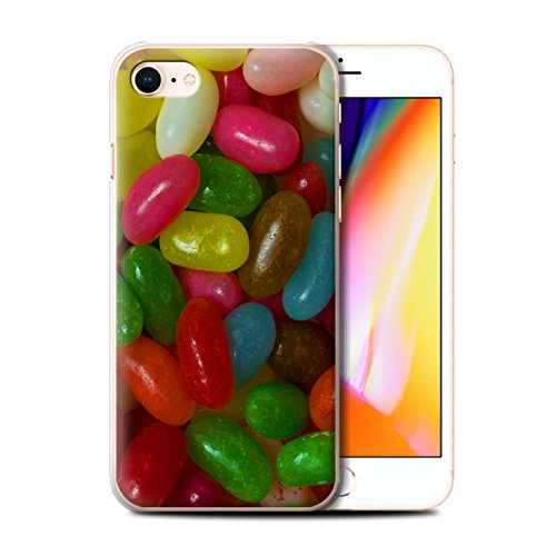 Stuff4 Hülle / Case für Apple iPhone 8 / Fruit Pastilles Muster / Bonbons/Süßigkeiten Kollektion Jelly Beans