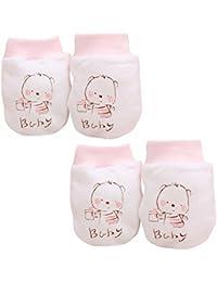 Affe 1pares Fashion New Cute Cartoon Baby Guantes guantes de invierno infantil niños (manoplas antiarañazos suave de bebé
