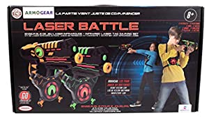 Darpeje- Batalla (Laser Battle) Set 2 Jugadores Verde | Naranja de Toys & Fun-Sycomore Faujas (ODAR78), (1)