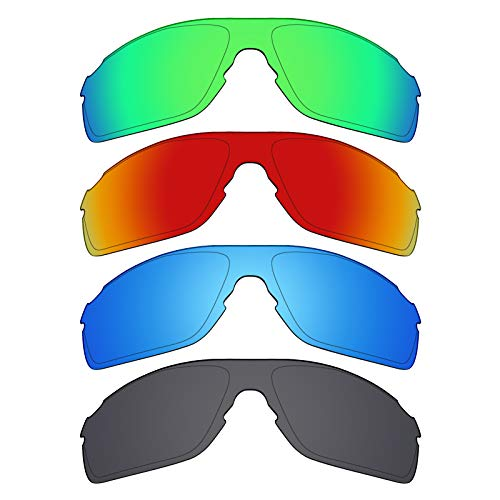 Mryok polarisierte Ersatzgläser für Oakley EVZero Pitch Asian Fit Sonnenbrille - Stealth Black/Fire Red/Ice Blue/Emerald Green