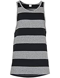 New Jack and Jones Mens Navy Striped Dave/Beck/Hercules Designer Vest