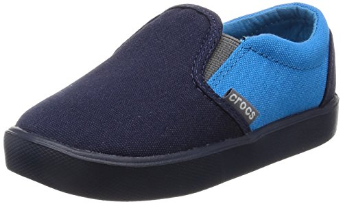 crocs Unisex-Kinder Citilane Slip-On Sneaker Kids Slipper, Blau (Navy/Ocean 49T), 28/29 EU