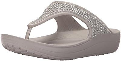 Crocs Sloane Diamante Flip W - sandalias con plataforma y cuña Mujer