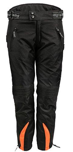 Bangla Kinder Motorradhose Textil 2152 Schwarz orange 164