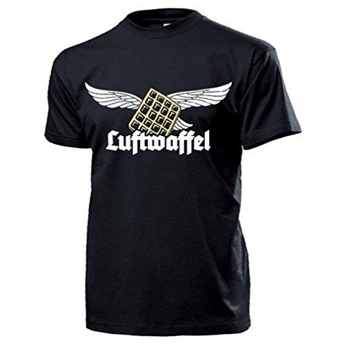 Luftwaffel Luftwaffe Waffel Humor Fun Spaß Kult Wh Adler luftig Altdeutsch Deutschland Hemd - T...