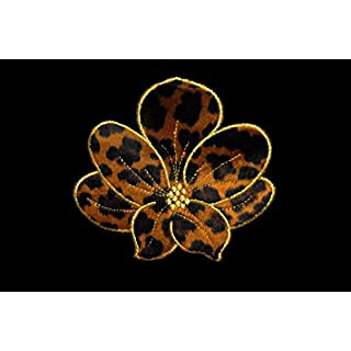 Altotux 5.5 x 5 Cheetah Leopard Print Furry Flower Iron on Patch Animal Fur Pattern By Piece by Altotux