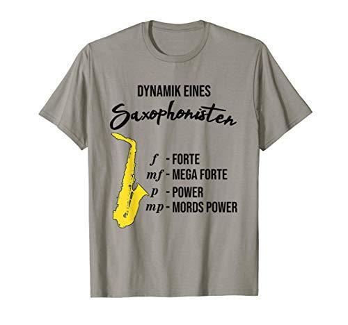 Lustiges Saxophon T-Shirt Dynamik eines Saxophonisten