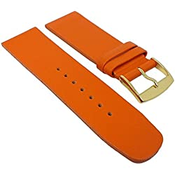 Graf Manufaktur Spree Womens Replacement Watch Strap Leather Band Orange 27097G Bridge Width: 22 mm