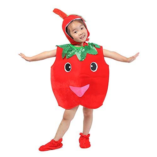Apple Kostüm Kleinkind - Kinder Obst Gemüse Kostüme Kinder Apple Party Kleidung Kostüme für Halloween Cosplay Weihnachtsferien Kleinkind Jungen Mädchen