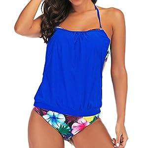 Damen Einteiliger Badeanzug Hoher Hals V-Ausschnitt Mesh Geraffte Monokini Badebekleidung Sommer Vintage Push Up Figurformender Bikini