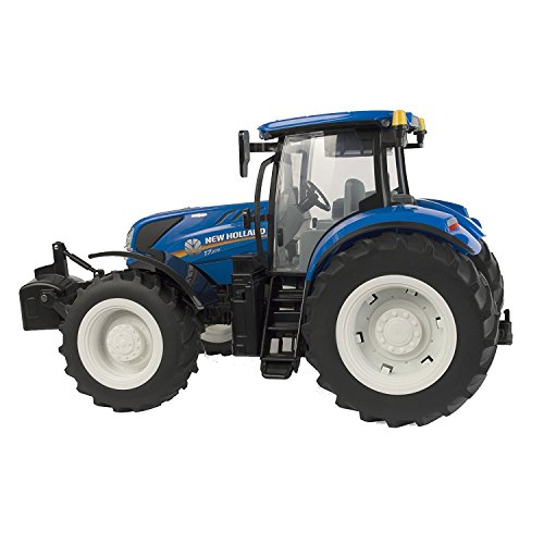 TOMY Britains - New Holland, T7.270 - Kinder Traktor mit Sound und Licht - mit Schaufel zum Anstecken - Traktor mit Frontgewicht - für Kinder ab 3 Jahre