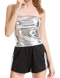 Plateado Camisetas Ropa Tops es Camisetas Y Blusas Amazon qa4Bwx8n