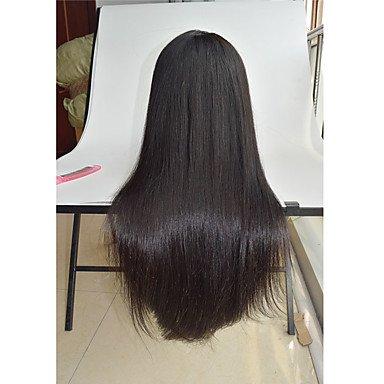 gzhuang 20,3cm–66cm seidig glattes Echthaar Perücken Malaysischen Echthaar Virgin Pre gegriffen Perücken Gerade Hair Perücken Lace Front Perücke (Malaysischen Lace Front Perücken)