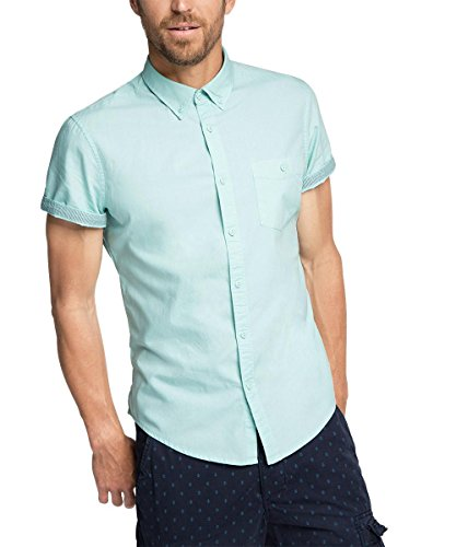 edc by Esprit - basic, Camicia Uomo Blau (LIGHT TURQUOISE 480)