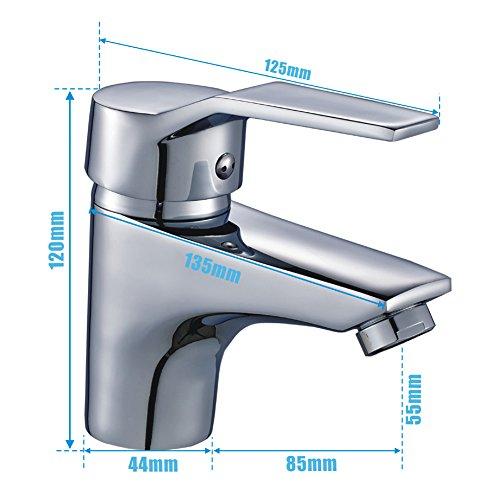 Auralum® Design Wasserhahn Waschtischarmatur für Badezimmer Waschbecken - 7