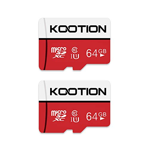 Kootion Tarjeta Micro SD 64GB Clase 10 Tarjeta
