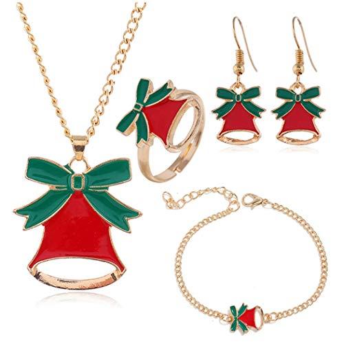 ZOYLINK Weihnachtsschmuck Mode Schöne Kreative Fingerring Schmuck Armband Charme Halskette
