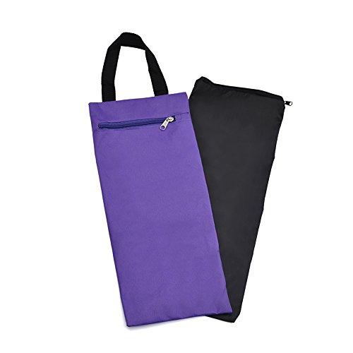 GOGO 40,6cm ungefüllt Sand Tasche mit Innenfutter, Großhandel Verstellbar Sandsack für Yoga Pilates Fitness, Unisex, Violett